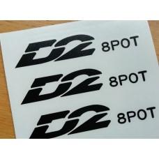 D2 Sport 8 Piston Brake Decals