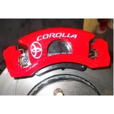 Toyota Corolla Brake Decals